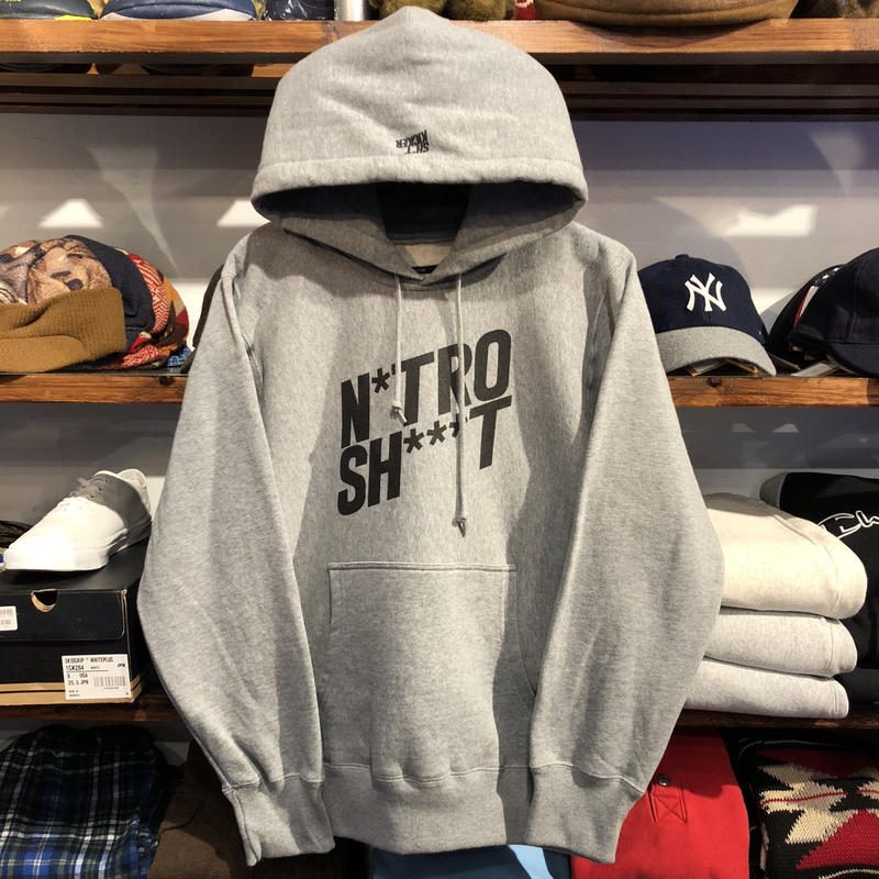 "SH*T KICKER "" N*TRO SH***T ""  HEAVY-WEIGHT HOODY(Gray)"