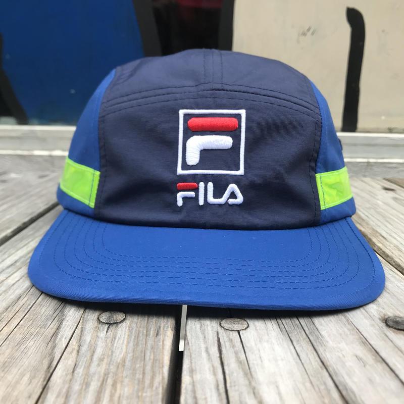 【残り僅か】FILA 5panel side tape adjuster cap (Blue)