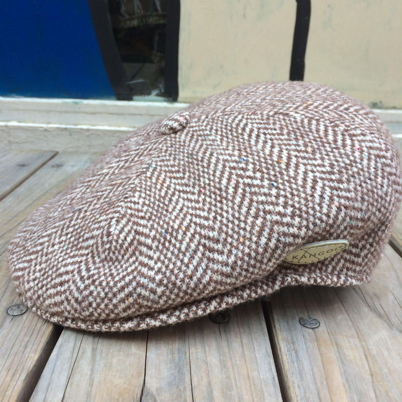 【残り僅か】KANGOL Wool Herringbone 504 (Brown)