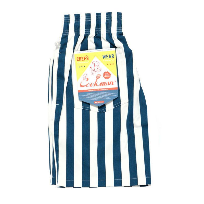 """【ラス1】Chef Short Pants """"Wide stripe"""" (Navy)"""