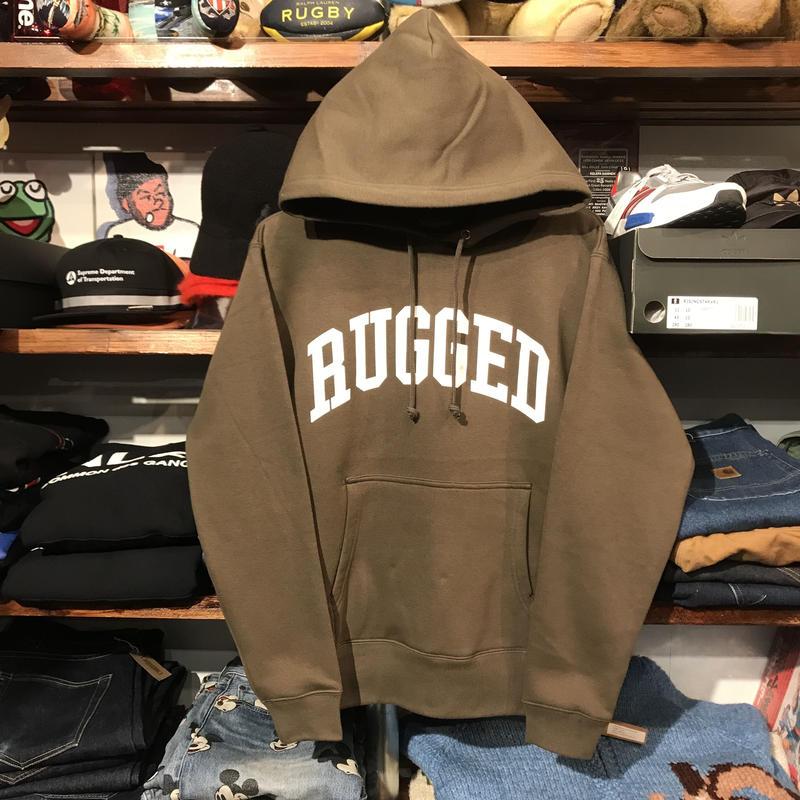 """【ラス1】RUGGED """"ARCH LOGO"""" sweat hoodie (Olive/10.0oz)"""