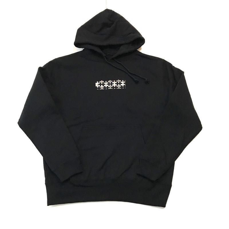 """【ラス1】RUGGED """"PUZZLE BOX/type B"""" light oz. sweat hoodie (Black/10.0oz)"""