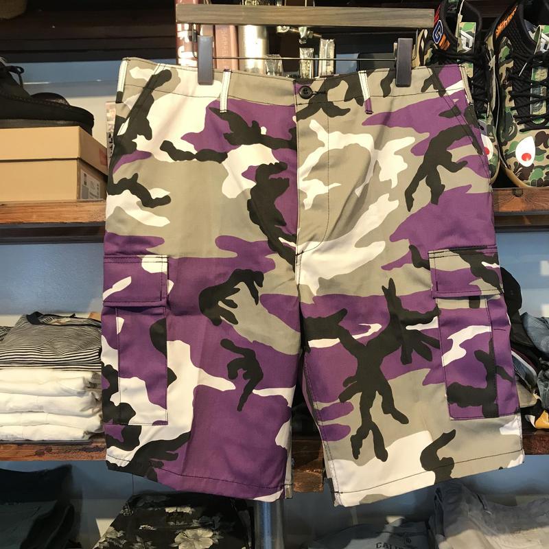 【ラス1】ROTHCO color camo shorts(Purple Camo)