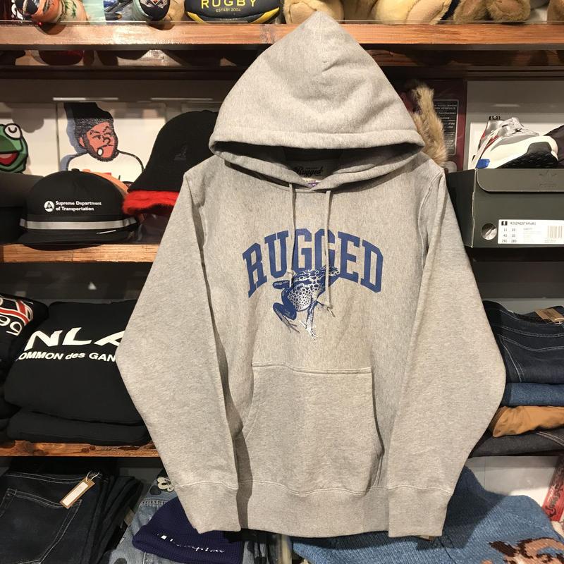 """【残り僅か】RUGGED """"蛙"""" sweat  hoodie (Gray/12.0oz)"""