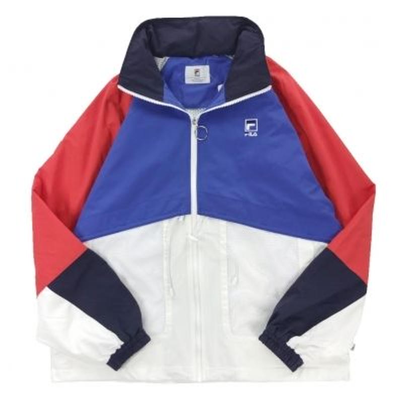【ラス1】FILA Full-zip mesh pocket wind jacket (Green)