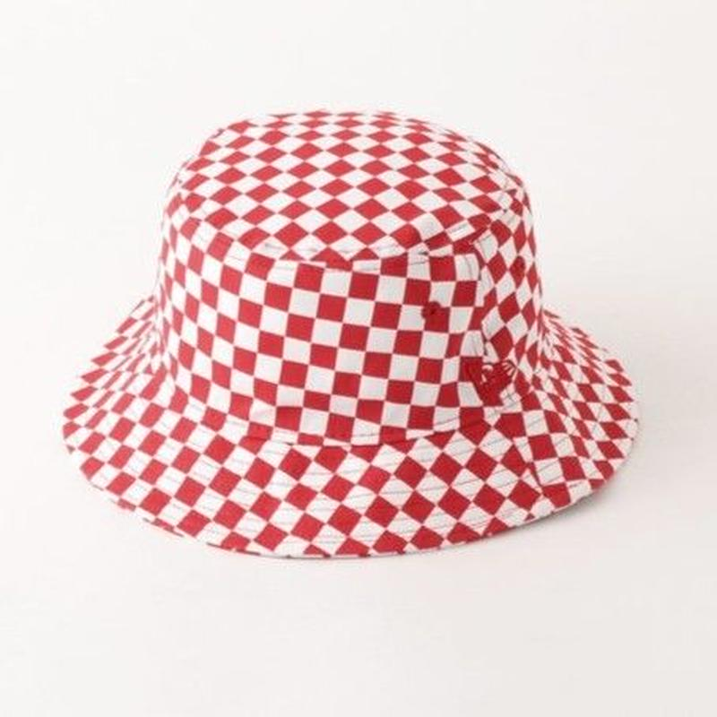 【残り僅か】Newera checker flag bucket hat (Red)