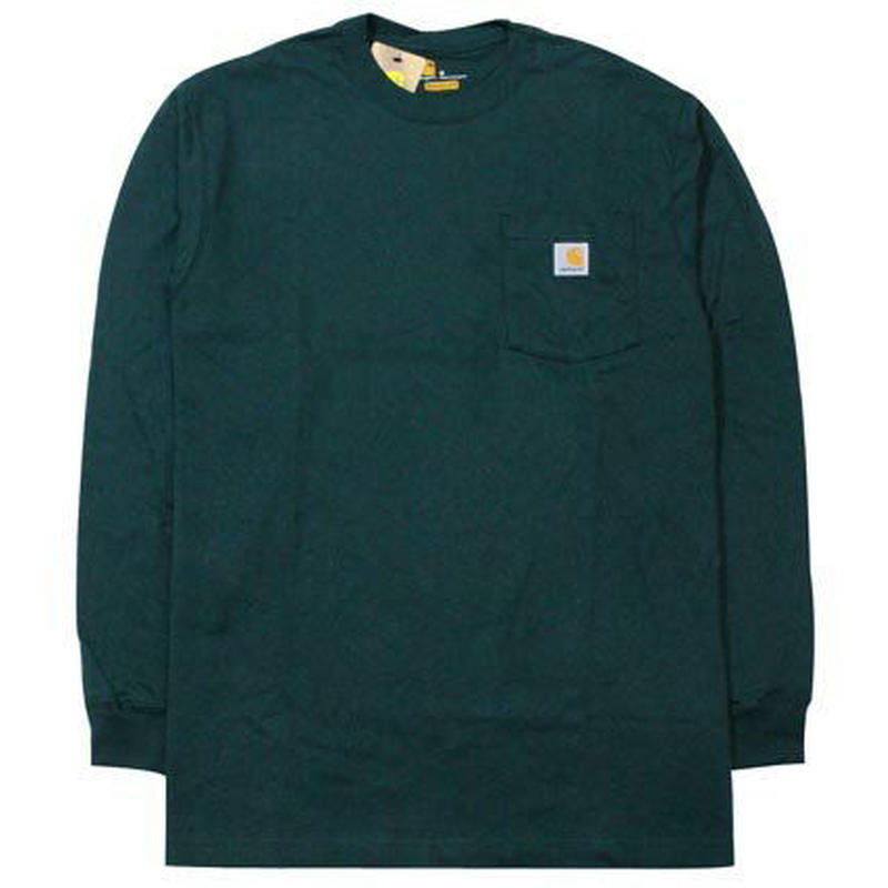 【ラス1】Carhartt L/S pocket tee (Dark Green)