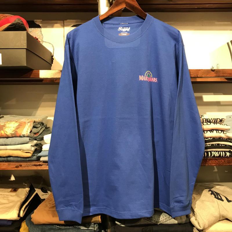 """【ラス1】RUGGED """"TOKYO MARIJUANAS"""" L/S tee (Blue)"""