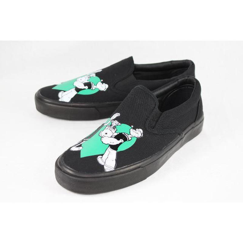 【ラス1】POPEYE print slop-on (Black)