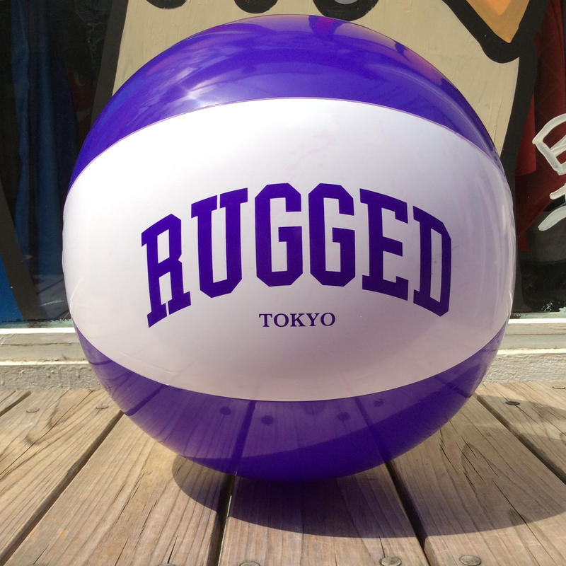 "RUGGED ""ALL LOGO"" beach ball (purple)"