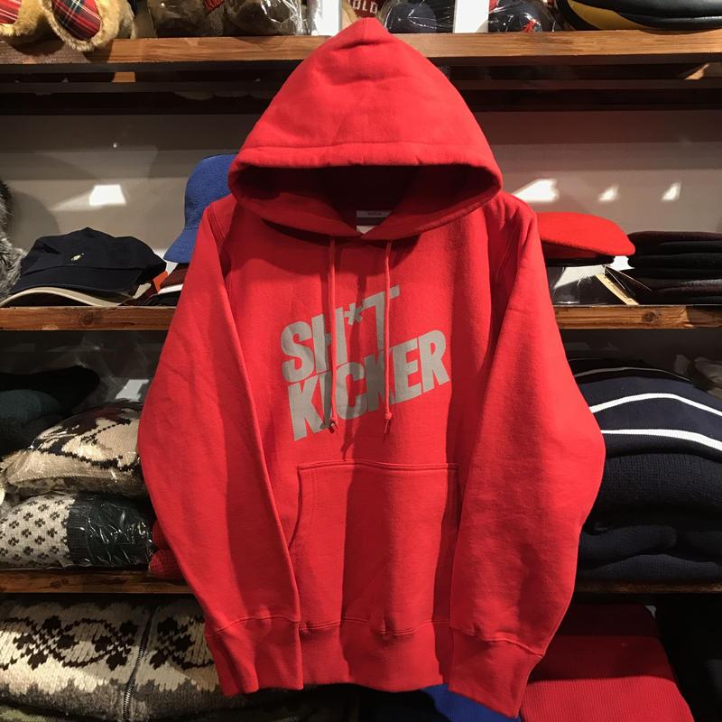 """【残り僅か】SH*T KICKER 3M """"SLANTING LOGO"""" hoody (Red)"""