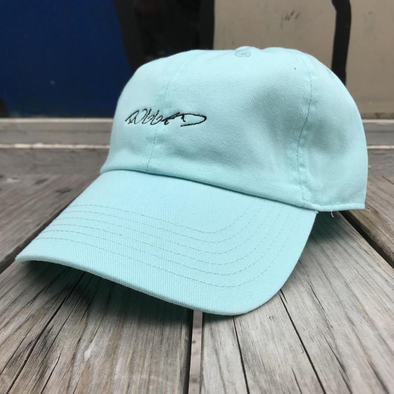 【残り僅か】RUGGED ''curisve logo'' adjuster cap (Turquoise)