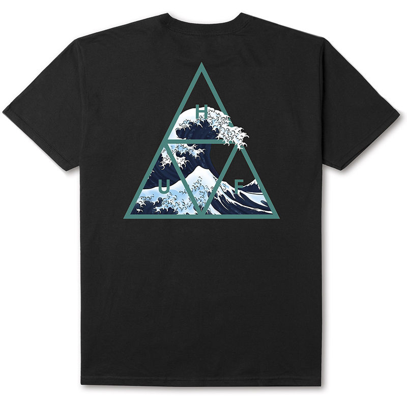 【ラス1】HUF HIGH TIDE TRIANGLE S/S TEE (BLACK)