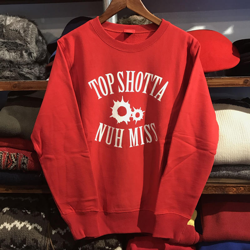 "【ラス1】SHOTTS ""TOP SHOTTA"" sweat (Red)"