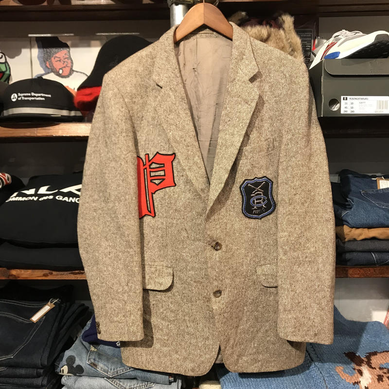 """RUGGED on vintage """"POLO WAPPEN""""  jacket (Made in USA/②)"""