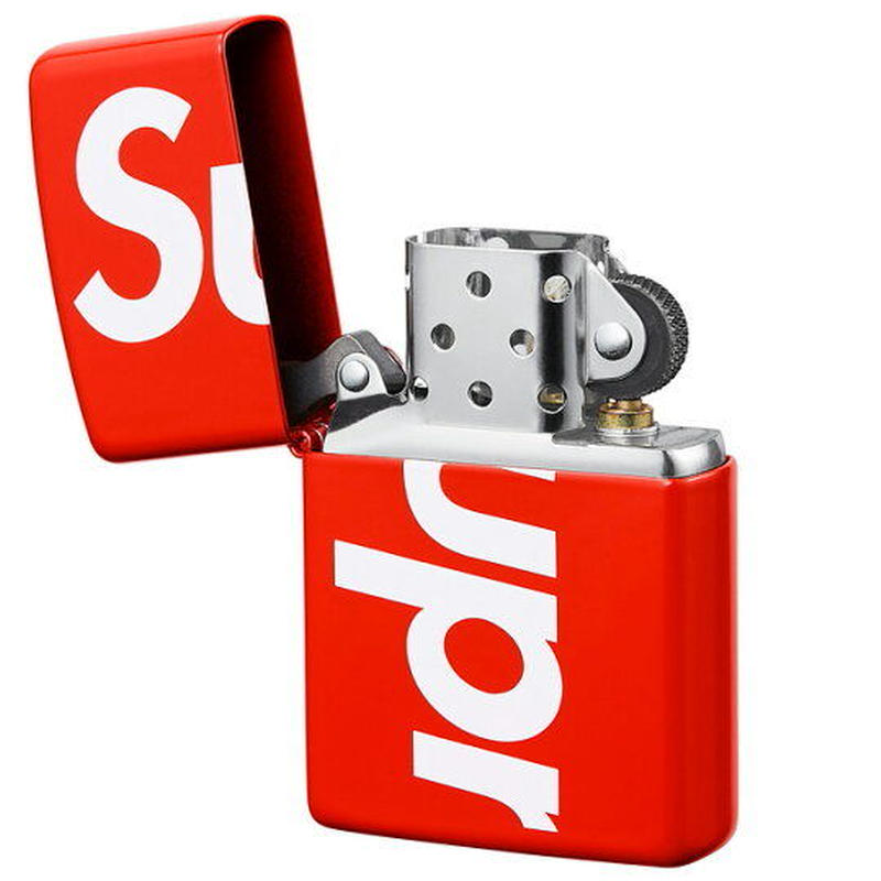 【ラス1】Supreme logo zippo lighter (Red)