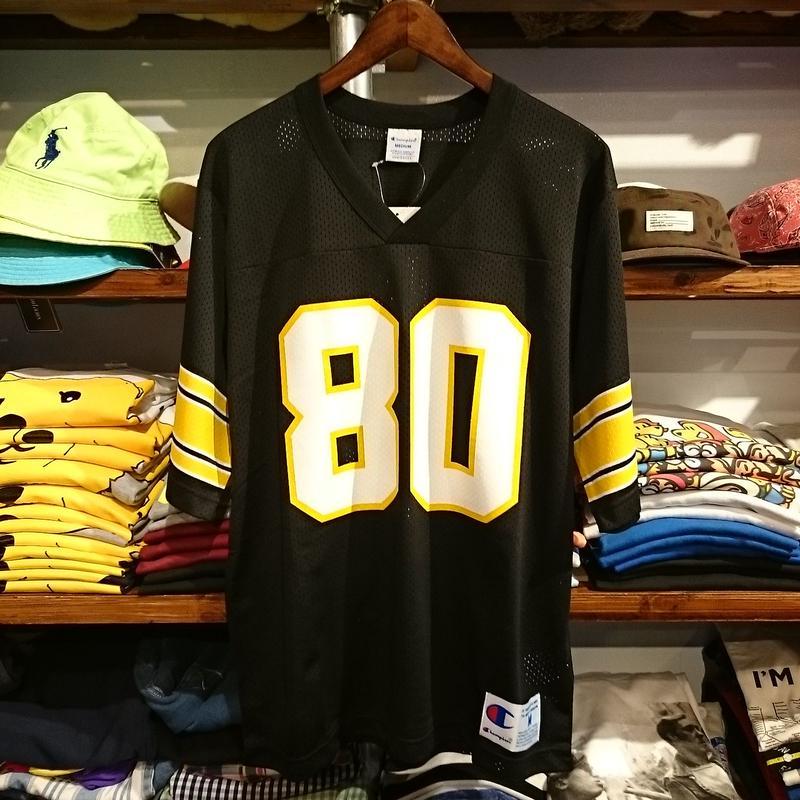 """【ラス1】Champion """"CHAMPION 80"""" mesh football shirt (Black)"""