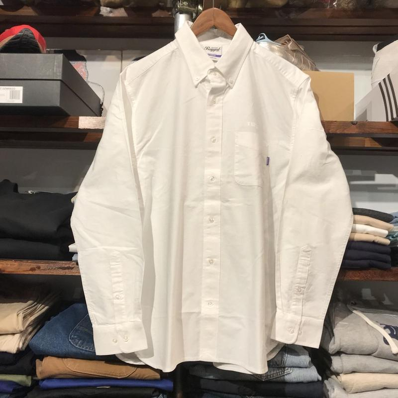 "RUGGED ""Real/Fake"" oxford shirt(white)"