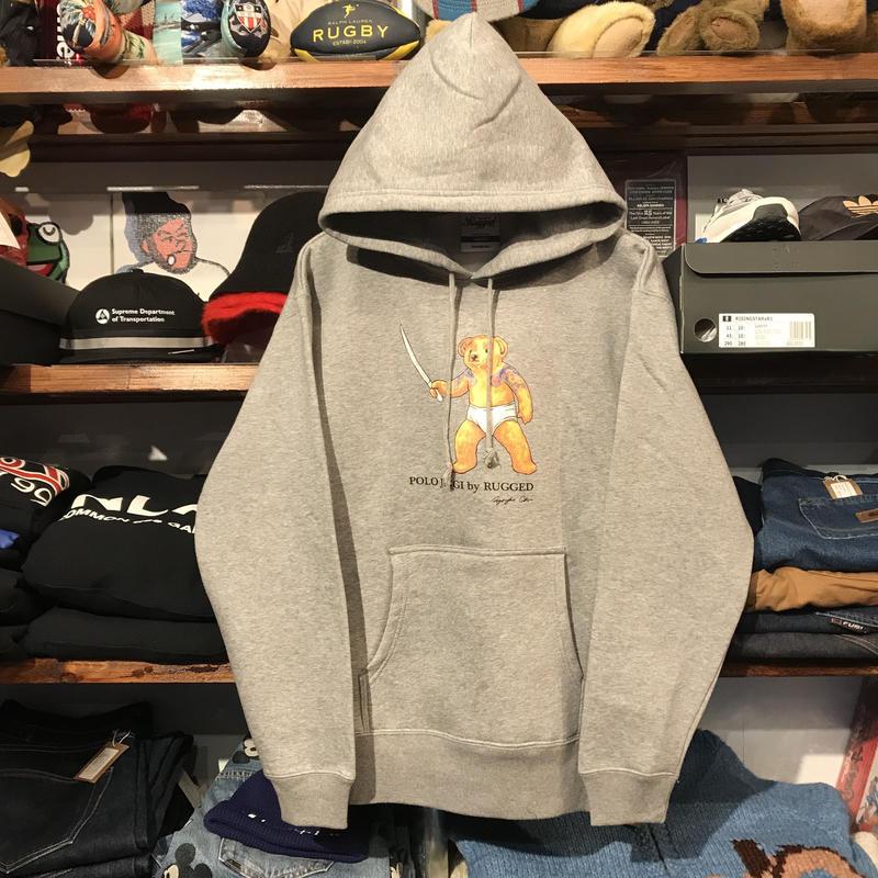 """【残り僅か】RUGGED """"POLO JINGI"""" sweat hoodie (Gray/10.0oz)"""