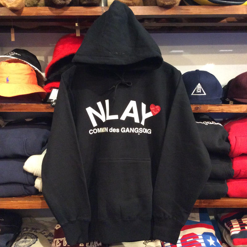 "【ラス1】AnotA ""NLAY"" sweat hoody(12oz./BLK)"
