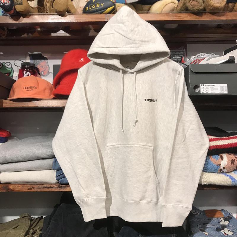 """【ラス1】RUGGED """"rugged®︎ """" reverse weave hoodie (Oatmeal/12.0oz.)"""