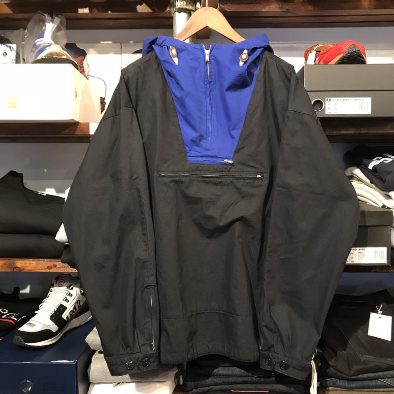 【ラス1】J.CREW ALWAYS cotton anorak jacket (Black)