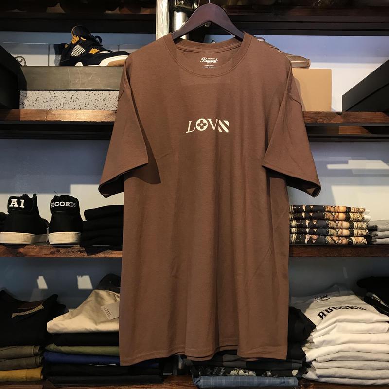 """【ラス1】RUGGED """"LOVE"""" tee (Bordeaux)"""