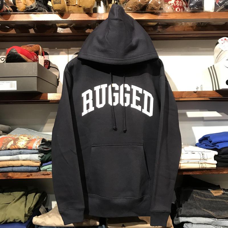 """【残り僅か】RUGGED """"ARCH LOGO"""" sweat hoodie (Navy/10.0oz)"""
