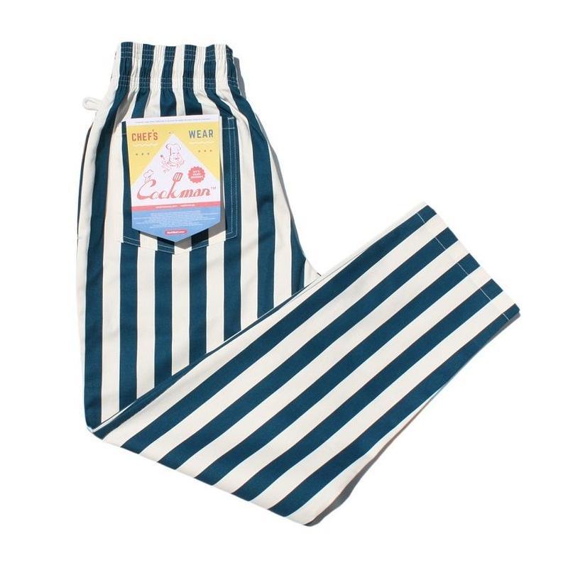 """【ラス1】Cookman Chef Pants """"Wide stripe"""" (Navy)"""
