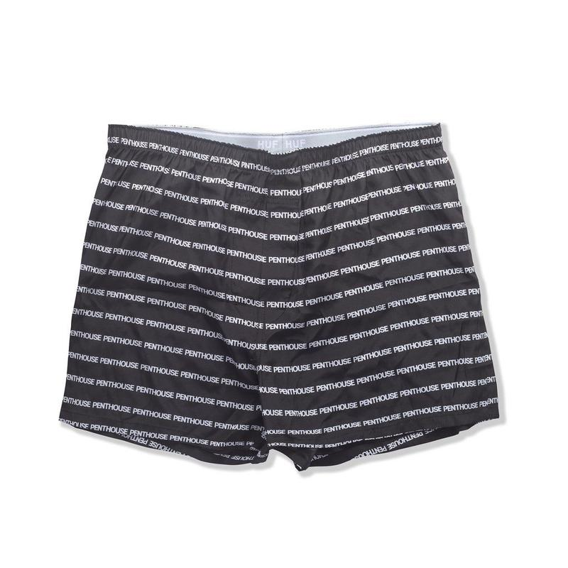 【残り僅か】HUF × PENTHOUSE SILK BOXER SHORT (Black)