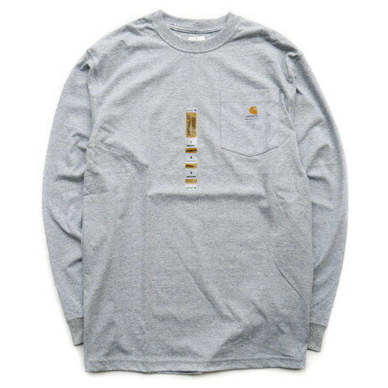 【残り僅か】Carhartt L/S pocket tee (Gray)