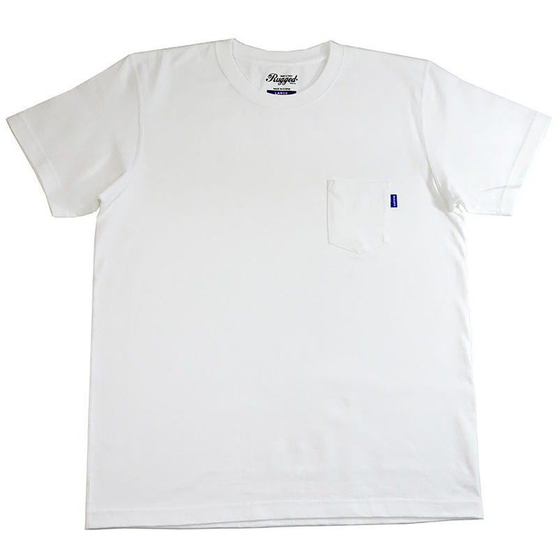 【残り僅か】RUGGED high grade cotton pocket tee (White/7.1oz)