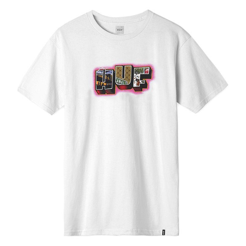 【ラス1】HUF TOWN S/S tee (White)