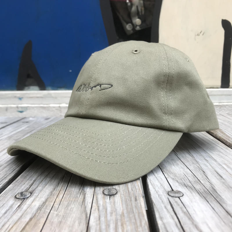 "【残り僅か】RUGGED ""RUGGED"" cursive logo adjuster cap  (Khaki)"