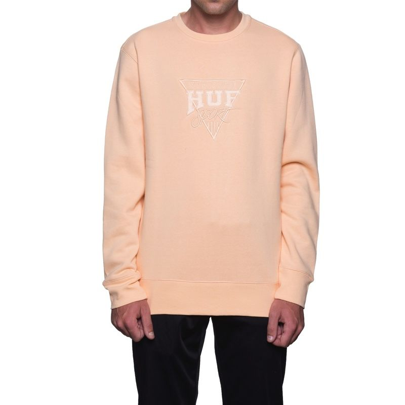 【ラス1】HUF SPORT CREW FLEECE (Peach)