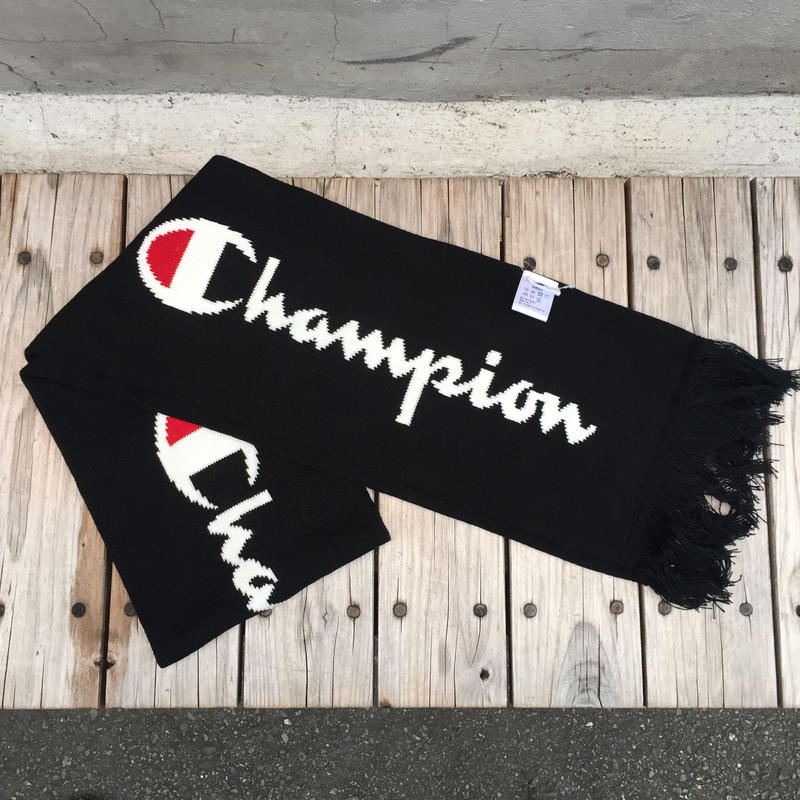 【残り僅か】Champion BIG LOGO SCARF (Black)