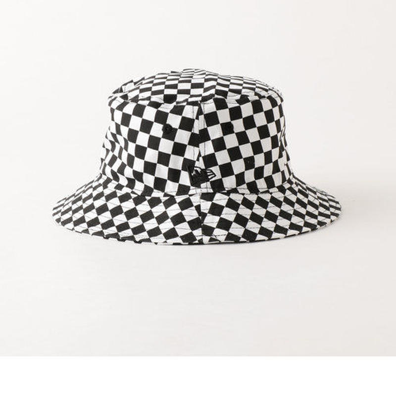 【残り僅か】Newera checker flag bucket hat (Black)