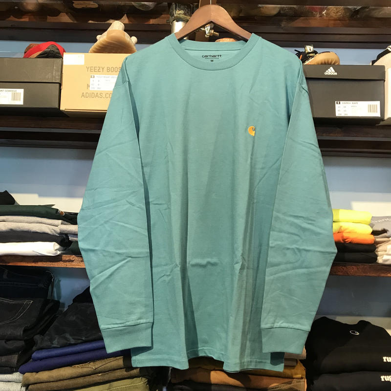 Carhartt L/S pocket tee (Soft Teal)