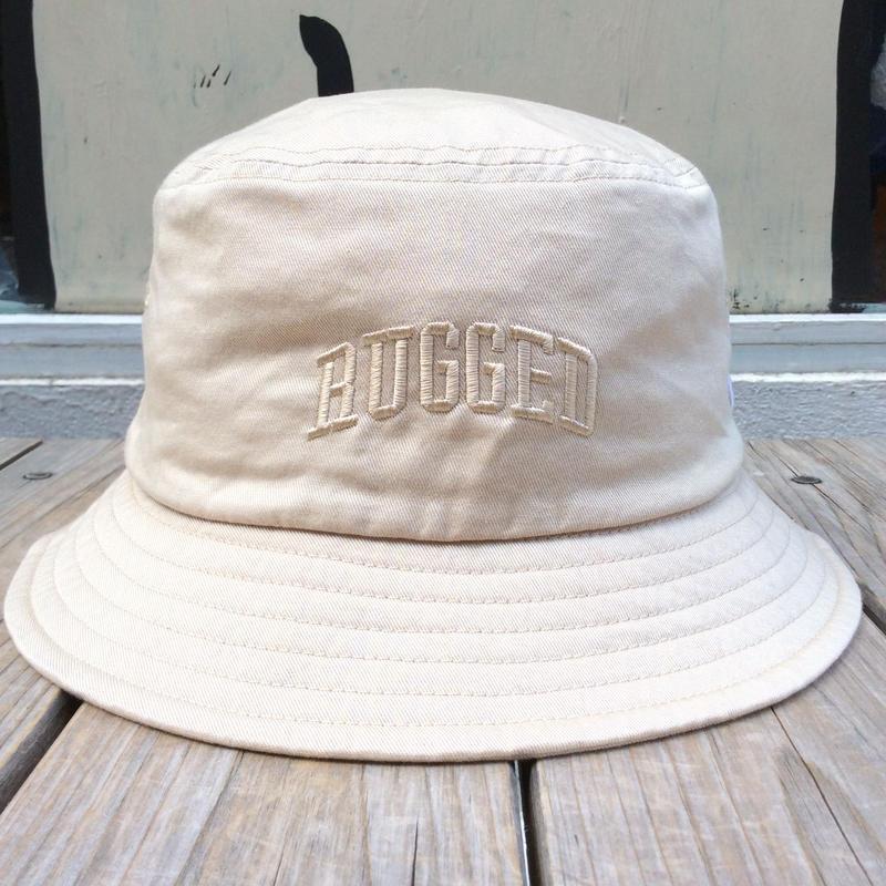 RUGGED on Champion buckethat(Beige)