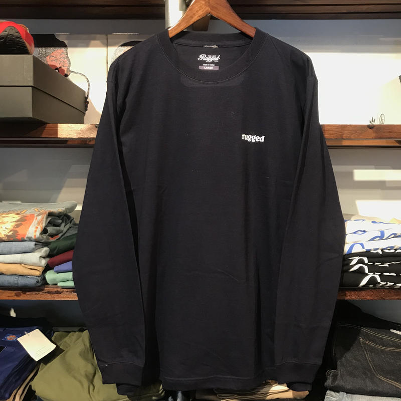 "【ラス1】RUGGED ""rugged"" L/S tee (Navy)"