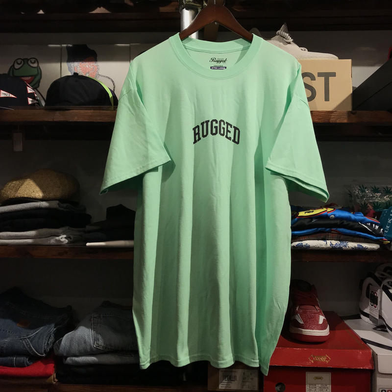 """【ラス1】RUGGED """"SMALL ARCH"""" tee  (Mint Green)"""