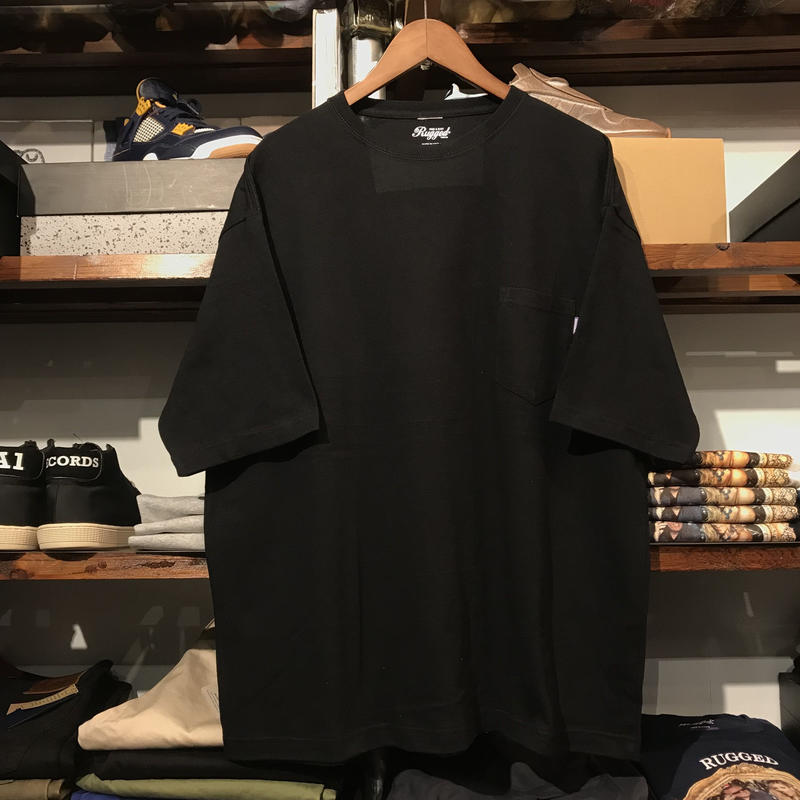 RUGGED big size pocket tee (Black/5.6oz)