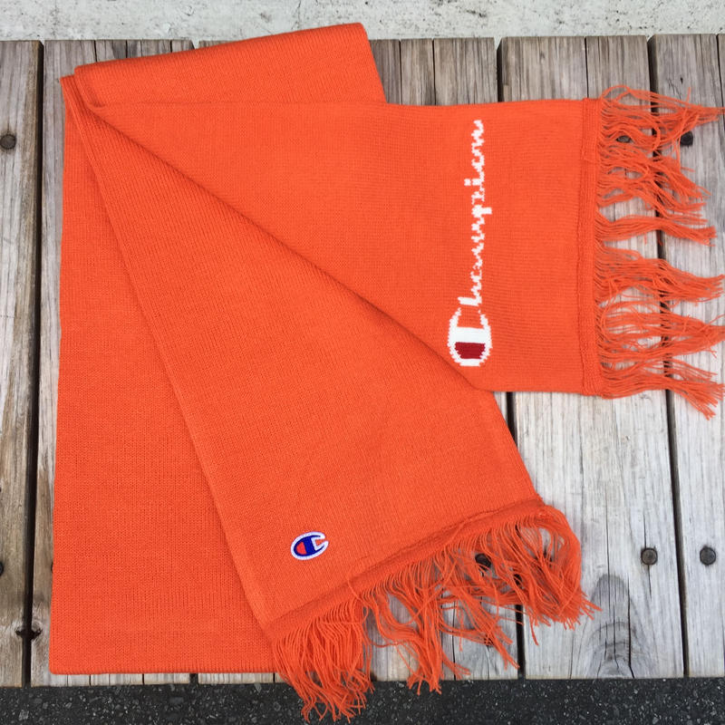 【ラス1】Champion JACQUARD LOGO SCARF (Orange)