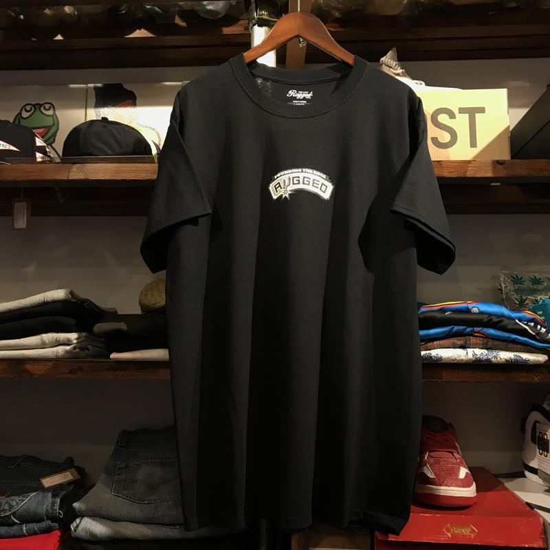 """RUGGED """"POUNDING THE ROCK"""" tee  (Black)"""
