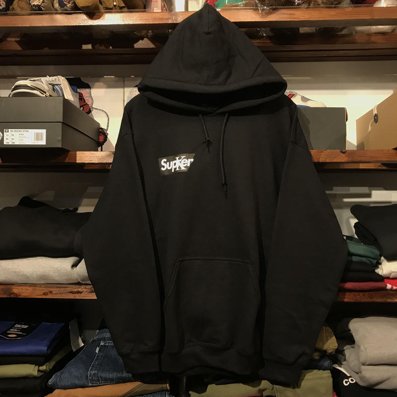 "【ラス1】RUGGED ""Sucker"" sweat hoodie (Black)"