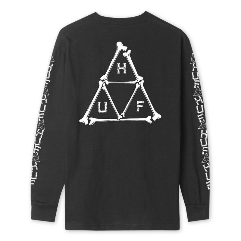 【残り僅か】HUF BONER TRIPLE TRIANGLE LONG SLEEVE T-SHIRT (Black)