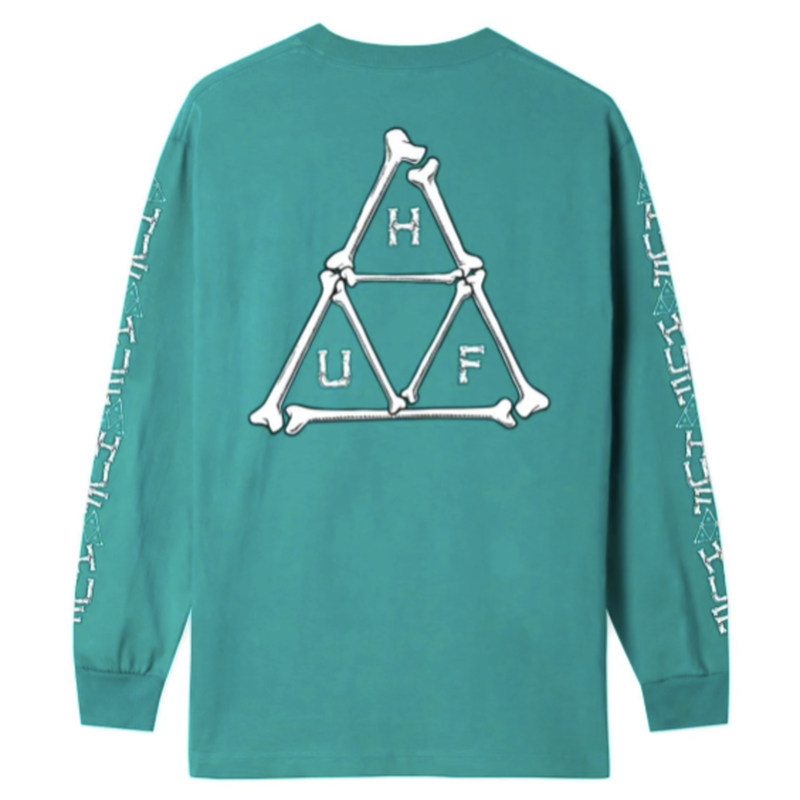 【ラス1】HUF BONER TRIPLE TRIANGLE LONG SLEEVE T-SHIRT (Biscay Bay)