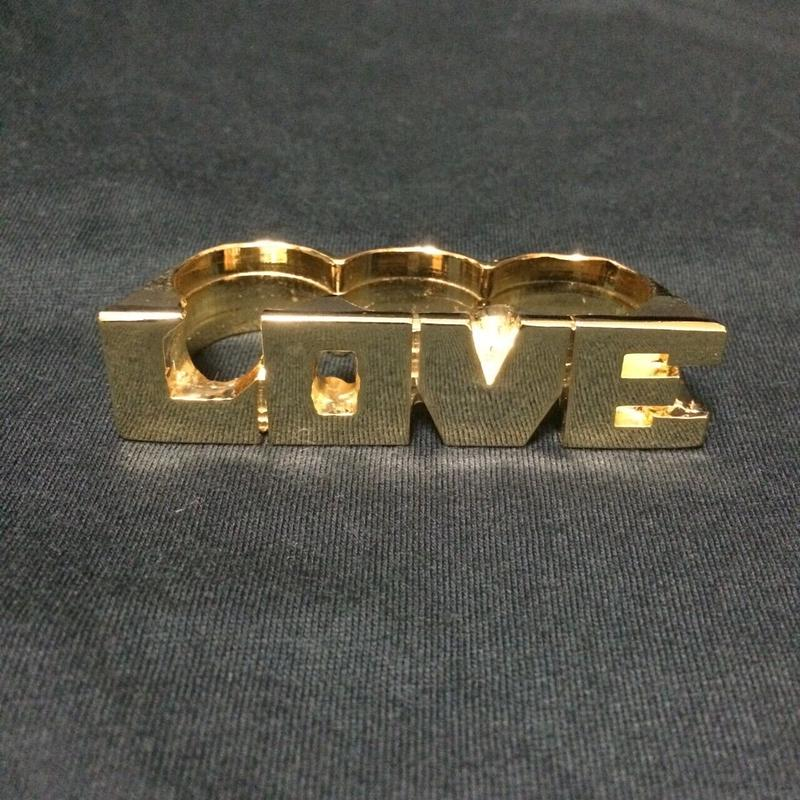 "RUGGED ""LOVE"" ring (Made in Japan)"