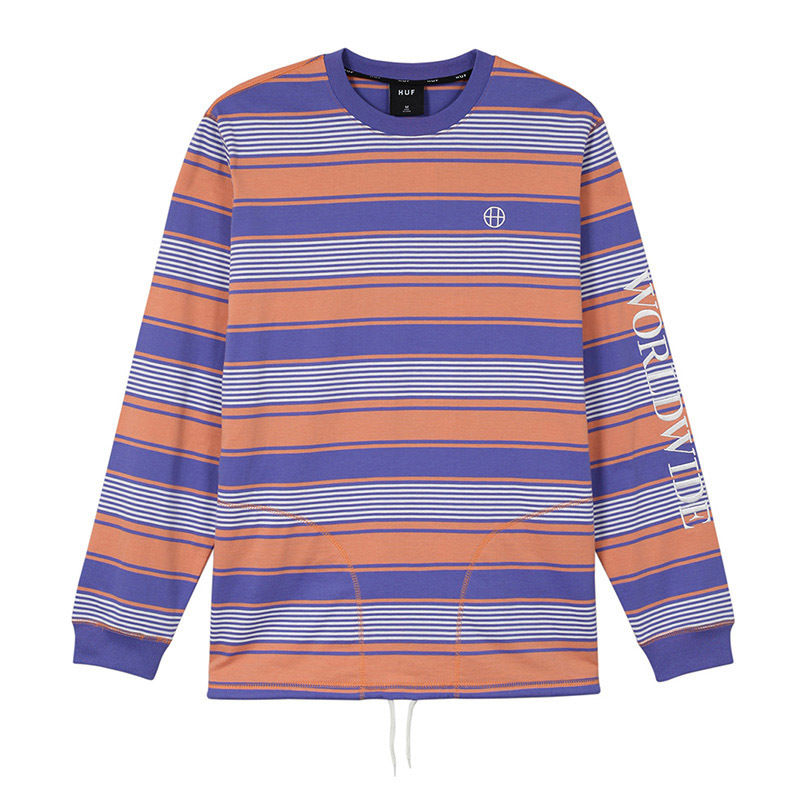 HUF ESSEX L/S KNIT TOP (Canyon Sunset)