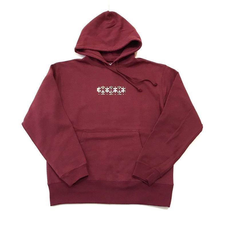 """【ラス1】RUGGED """"PUZZLE BOX/type B"""" light  oz. sweat hoodie (Bugundy/10.0oz)"""